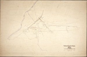 Early Map of Ideal dated 1911 revised 1912 Courtesy of Bessemer Historical Society